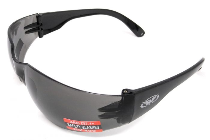 Global Vision Rider Category 3 Grey Tinted Wraparound Glasses