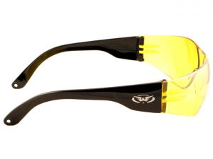 Global Vision Rider Yellow Tinted Mirrored Wraparound Sunglasses
